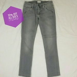 Girls Hudson Jeans Gray With Back Flap Pockets